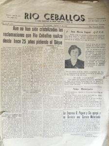 Artículos del periódico Río Ceballos